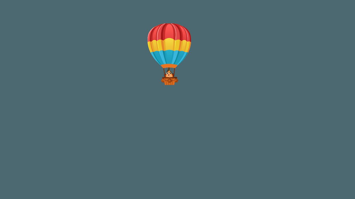 Globo con el flopi Tipi, un divertido personaje del juego marco topo, un juego de aventuras interactivas para jugar en familia con niños y descubrir sitios de una manera divertida.