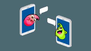móviles con flopis de marco topo, un juego de turismo familiar con niños