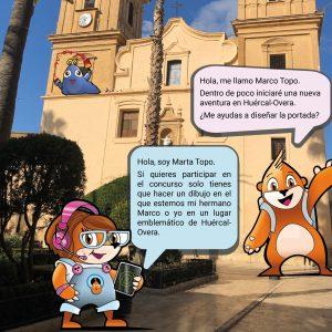 Concurso de dibujo para decidir la imagen del juego de Marco Topo en Huércal-Overa.